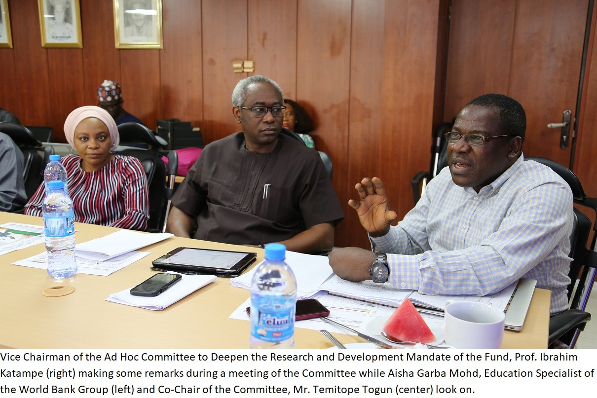 COMMITTEE TO DEEPEN RESEARCH & DEVELOPMENT AND CONFIRMED/PROMOTED TETFUND STAFF